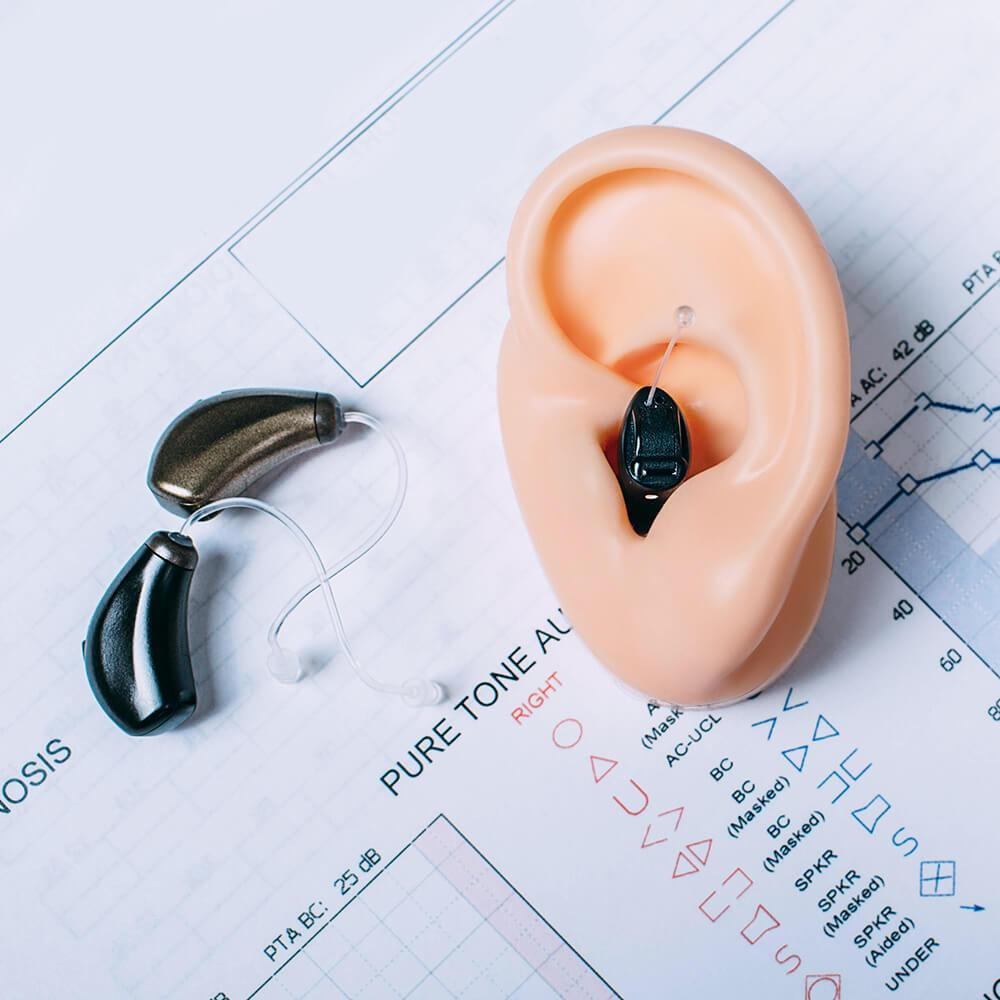 hearing device on test results